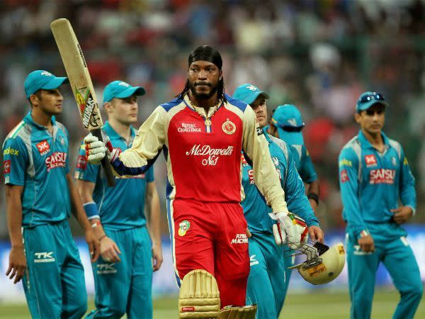 Gayle on his way to a record 175 not out
