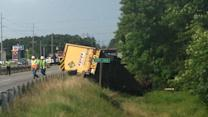 Truck crash in Rocky Mount; driver missing