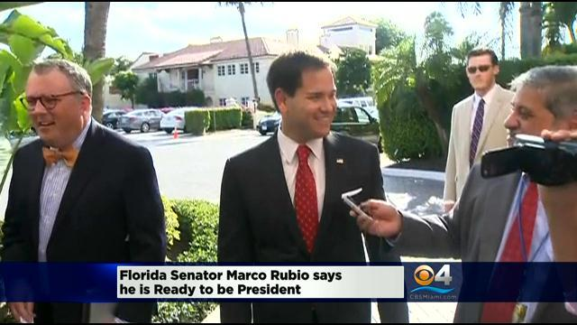 Florida Senator Marco Rubio Says He Is Ready To Be President