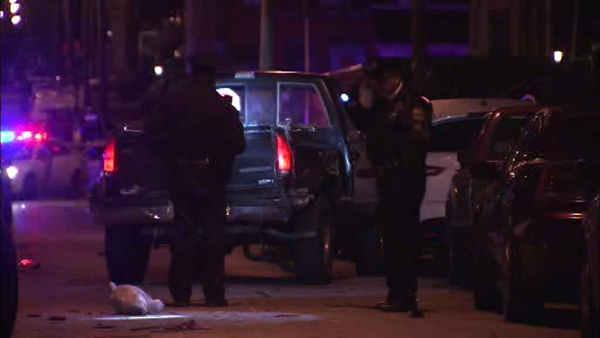 Driver hits parked cars in attempt to escape gunfire