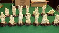 Woman accused of stealing $30K worth of antique figurines