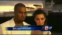 Kim and Kanye reveal baby's name