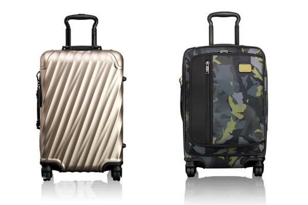 TUMI鋁合金旅行箱與Merge拉桿旅行箱。