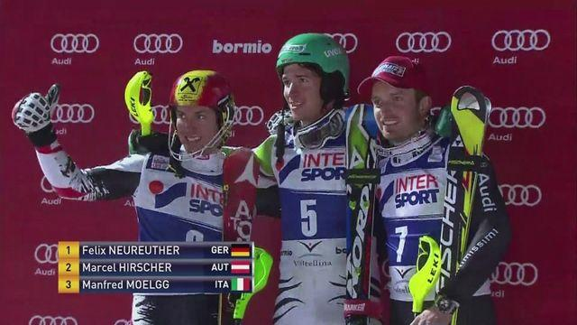 Germany's Felix Neureuther wins World Cup night slalom in Italy