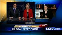 Some radar signs could be illegal