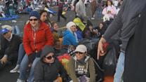 Camping Out to Attend a Papal Mass