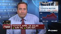 Toyota US sales up 3.8% in April