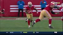 San Francisco 49ers running back Frank Gore runs for 24 yards