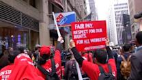 Fast food workers walk off jobs in protest of low pay