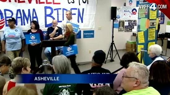 Jill Biden campaigns in Asheville