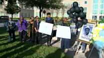 Group sings 'Happy Birthday' to Trayvon Martin