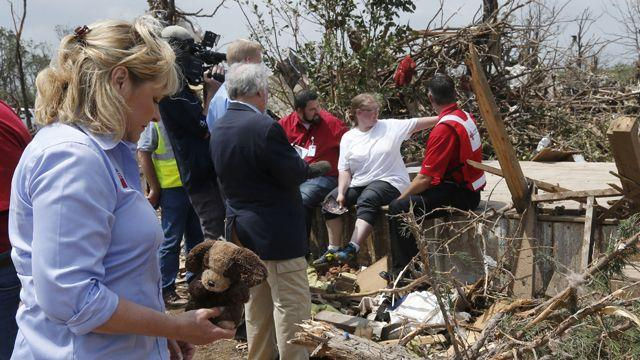 Red Cross working to help tornado victims
