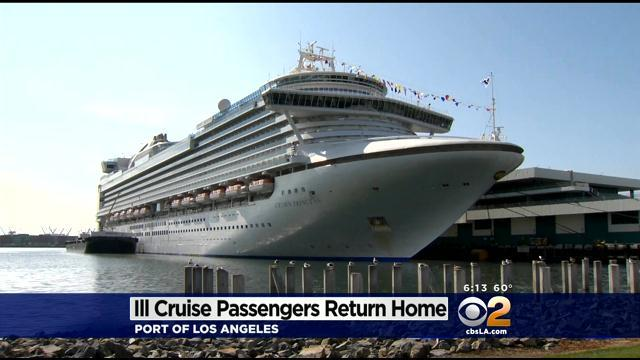 Cruise Passengers Return To LA After Outbreak