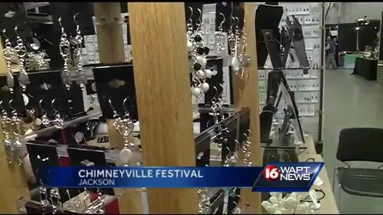 Craftsmen show off wares during Chimneyville Festival