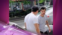 Entertainment News Pop: Taylor Lautner Ices His Face on Set of New Movie Tracers