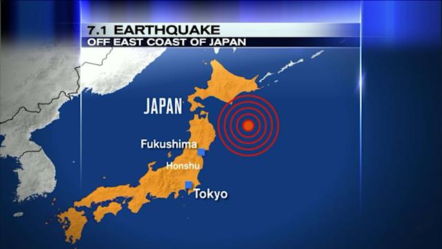 7.1 Earthquake Strikes Off Japanese Coast