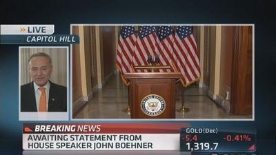 Schumer: There is a responsibility not to negotiate