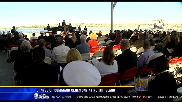 Change of command ceremony at North Island