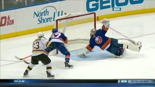 Marchand scores after sweet passing sequence