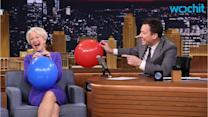 Helen Mirren Inhales Helium and Talks In a Very High Voice on The Tonight Show
