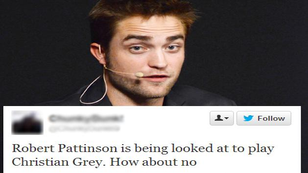 Robert Pattinson To Play Christian Grey in Fifty Shades Of Grey