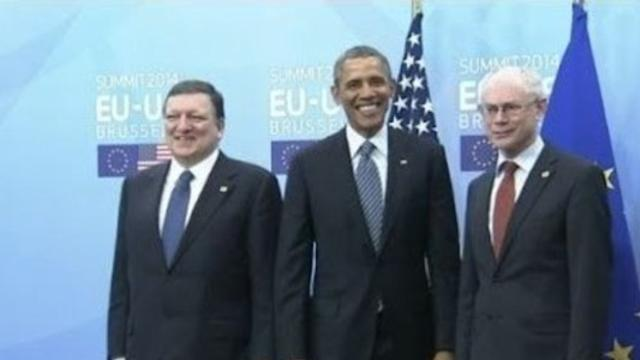 Obama in Brussels for Talks With EU Leaders