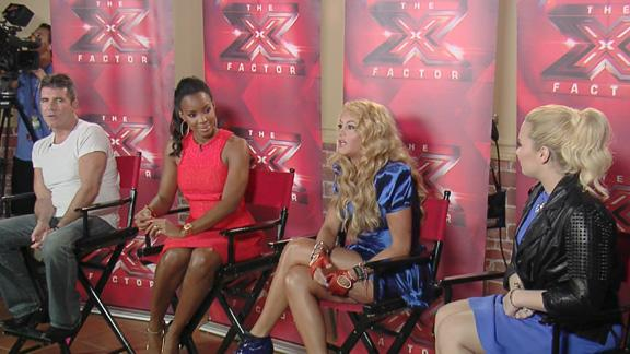 The X Factor Press Conference: Simon Cowell Reacts To Getting Eggs Thrown At Him