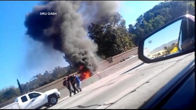 Good Samaritans Spring to Action After Fiery Car Crash