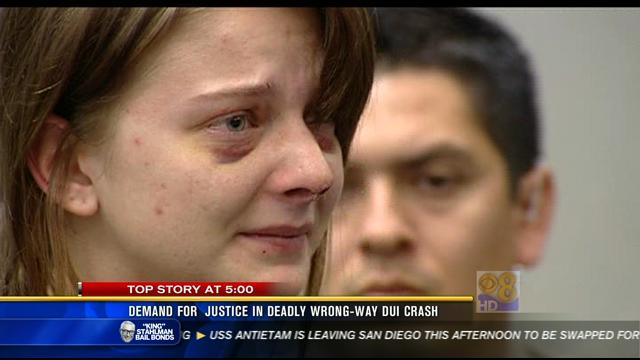 Demand for justice in deadly wrong-way DUI crash