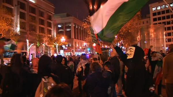 Protestors rally in SF over Gaza conflict