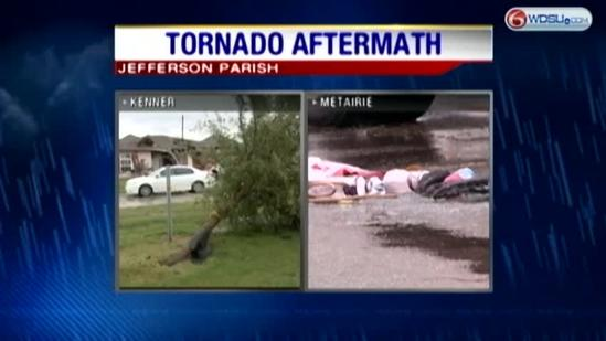 Clean-up underway in Kenner and Metairie following Wednesday's tornadoes