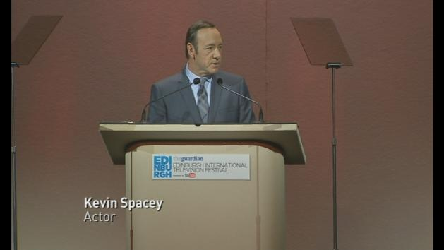 Kevin Spacey urges TV channels to hand control to viewers