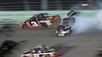Red flag wreck mixes up championship contenders