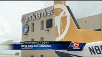 New airline begins flights to New Orleans Lakefront Airport.