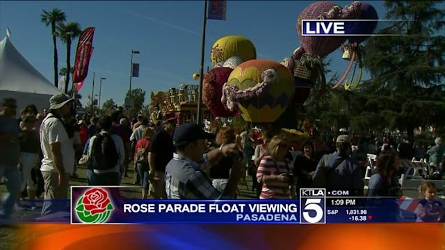 Rose Parade Float Viewing Open to Public