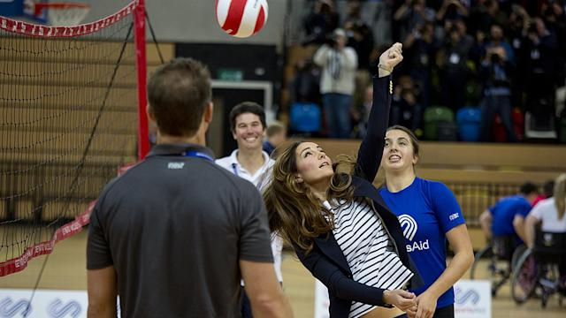The Royal Report: Kate Middleton Shows Her Sporty Side -and Stomach! - as William Marks a First