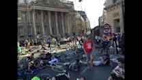 Cyclists stage die-in protest at Bank junction