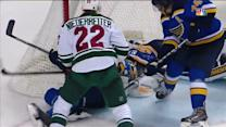 Backes stops puck on goal line for key save