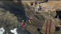 Raw: Man Rescued From Sunset Cliffs