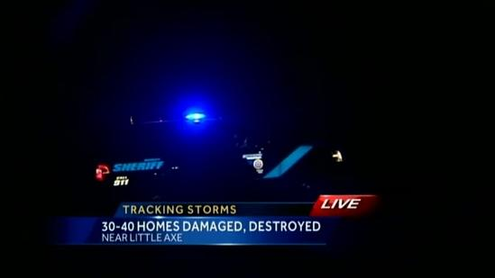 Dozens of homes damaged by storms in Little Axe