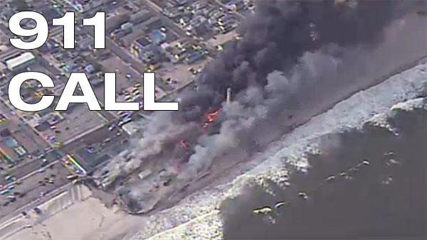 911 calls from Seaside Park boardwalk fire
