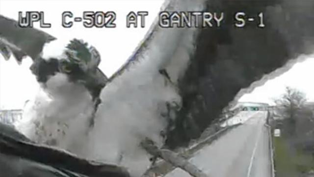 Birds Keep Building Nest In Front Of Traffic Cam
