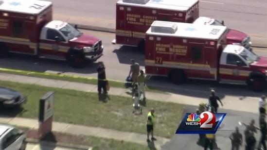 Raw video: Victims pulled from day care after car crash