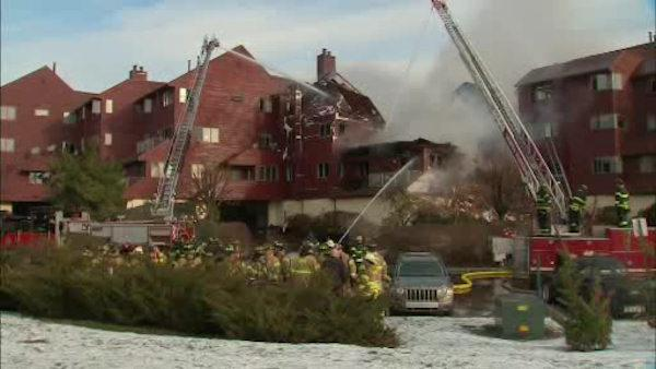 Huge fire at condo complex in New Jersey
