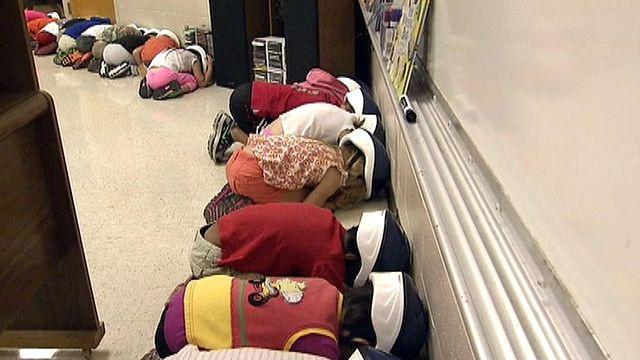 Helmets implemented for tornado drills