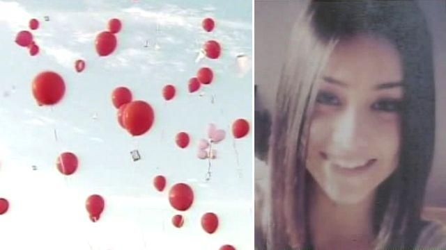 Balloon release marks milestone for missing teen