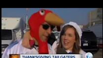 Thanksgiving Day tailgaters