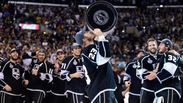 Kings reaction to winning the Stanley Cup