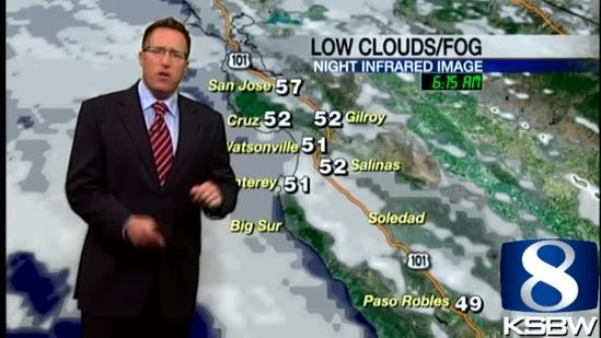 Get Your Wednesday KSBW Weather Forecast 5.08.13