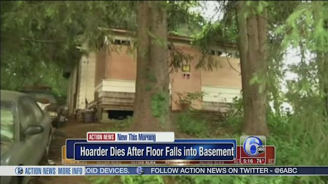 Hoarder dies after 1st floor falls into basement